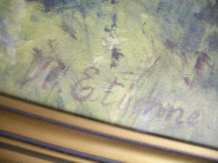 Bild 4: Antik Heiligenbild SCHUTZENGEL auf Öl mit sign.