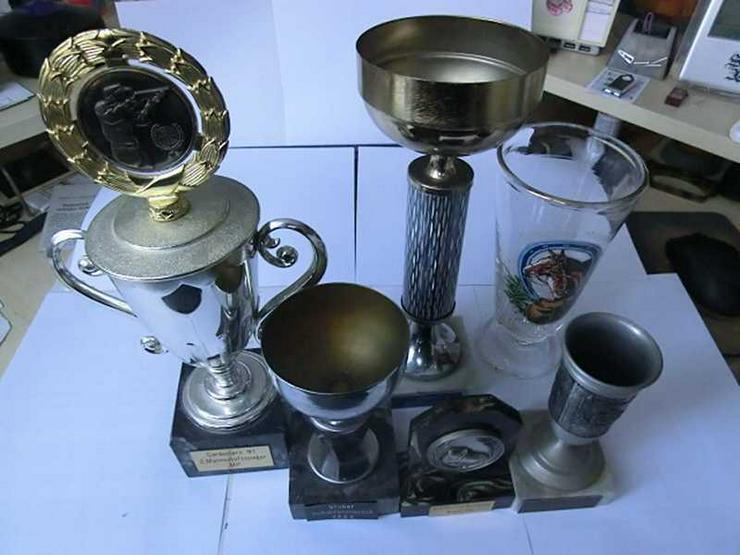 Bild 5: Bierkrüge, -gläser und Pokale