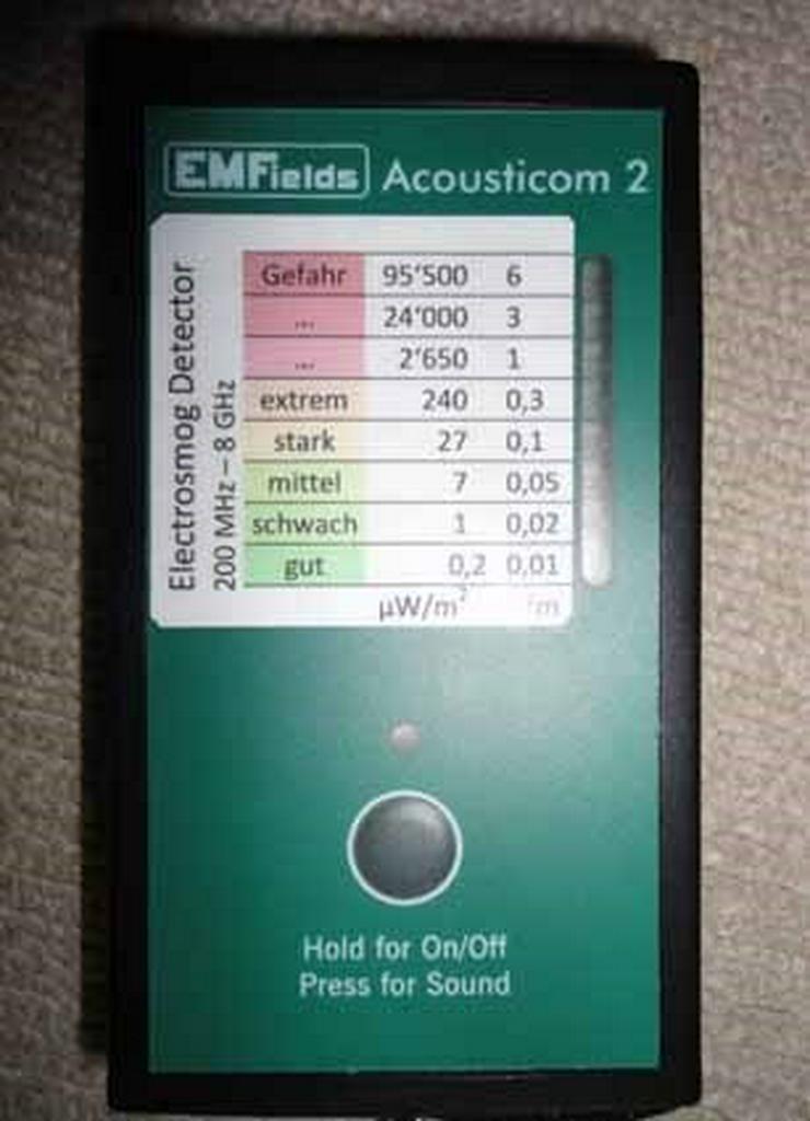 ACOUSTICOM 2, Messgerät für Handystrahlung - Esoterik - Bild 1