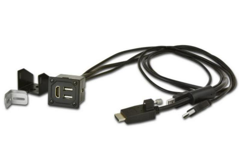 Anschlussbox mit Verlängerung 1x HDMI 2x USB - Lautsprecher, Subwoofer & Verstärker - Bild 1