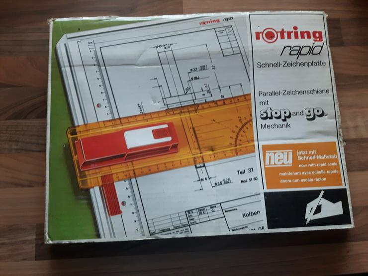 Bild 2: Rotring Schnellzeichenplatte A4 Rapid + Zubehör