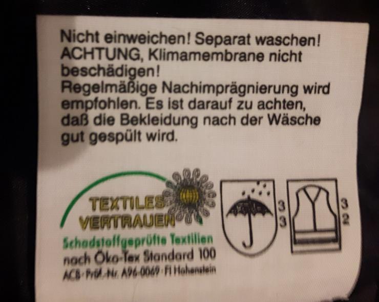 Bild 4: Rofa Wetterschutz Latzhose in  Warnfarbe 52/54