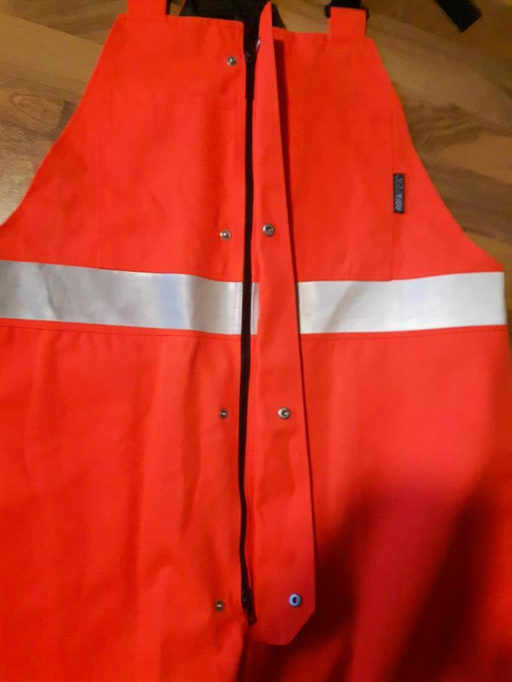 Bild 4: Rofa Wetterschutz Latzhose in Warnfarbe 64/66