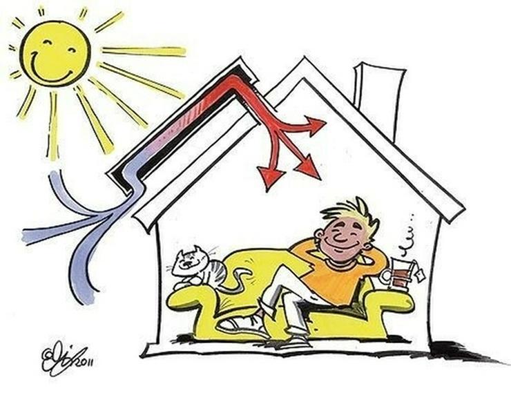Bild 6: Nie mehr Schimmel und feuchte Häuser !!! Lüften und Heizen nur mit der Kraft der Sonne. ...