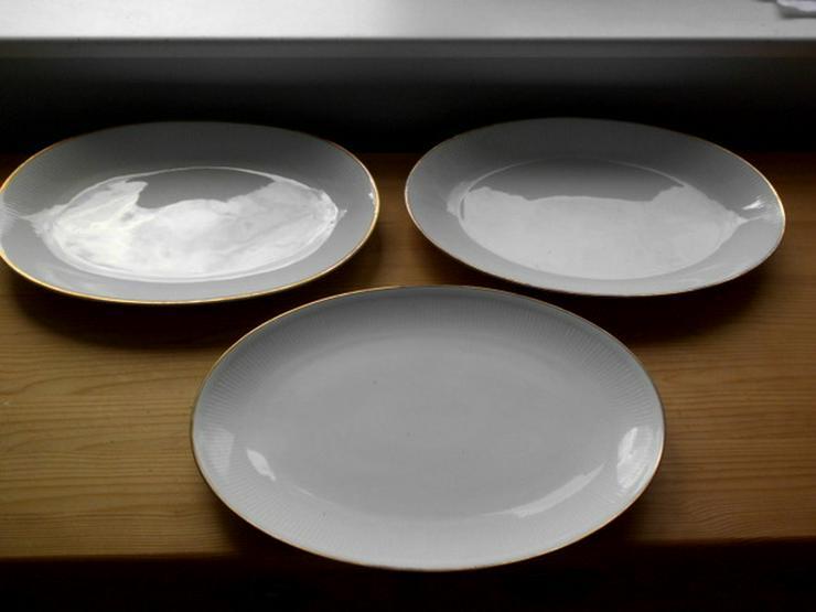 3 Porzellanplatten, 1950er Jahre, auch einzeln