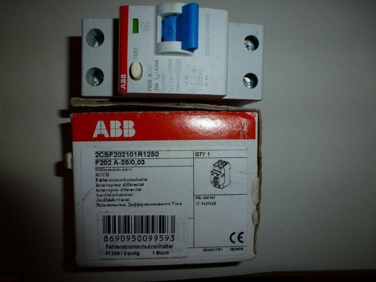 ABB F 202 A -25/0,03 NEU/OVP - Bild 1