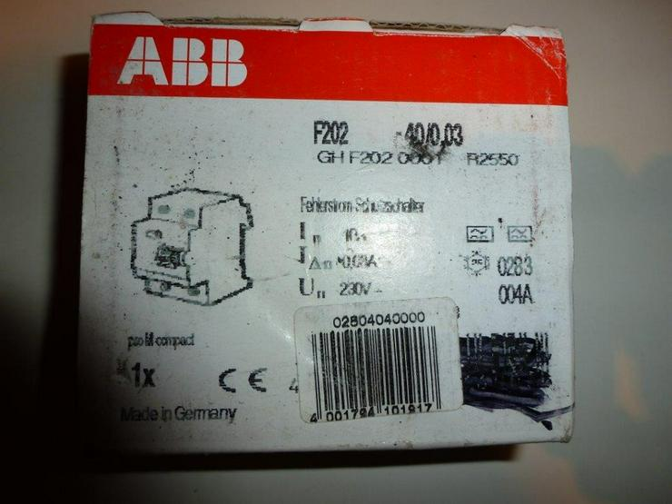 ABB  F 202 -40/0,03 NEU/OVP - Bild 1