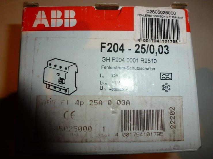 ABB  F 204 -25/0,03 Neu/OVP