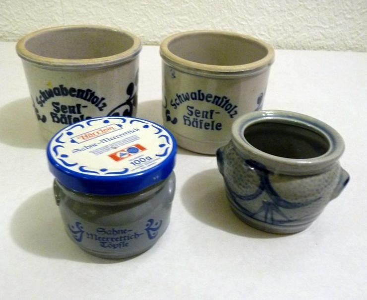 4 kleine Steinguttöpfle