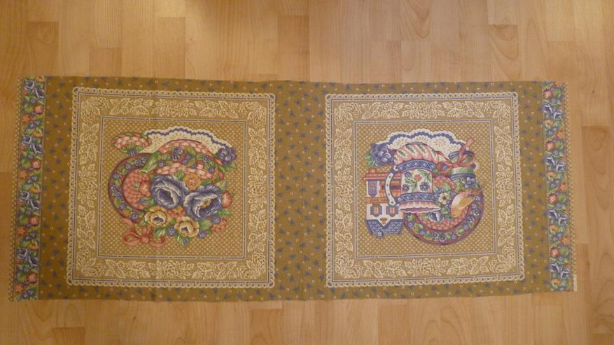 Kissenbezug z. Nähen 45x45cm mit Blumendruck