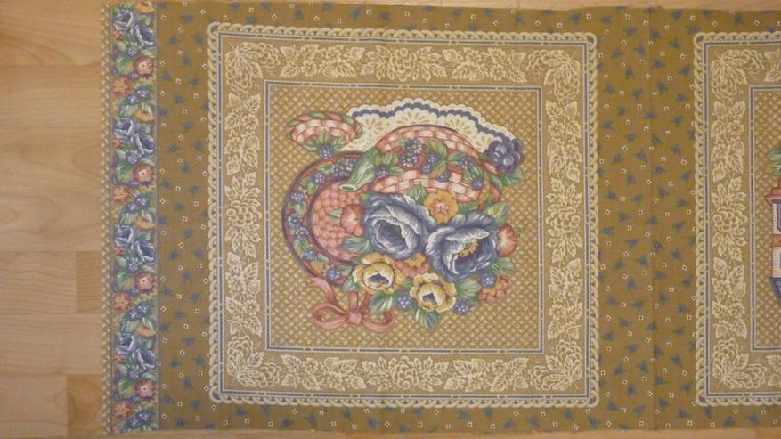 Bild 2: Kissenbezug z. Nähen 45x45cm mit Blumendruck