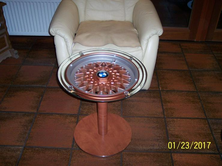 Bild 5: Schachtisch Glastisch Beistelltisch BMW Felge
