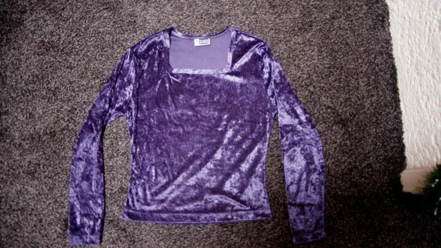Pannesamt-Shirt, Gr. 158, lila, by Bando, neu