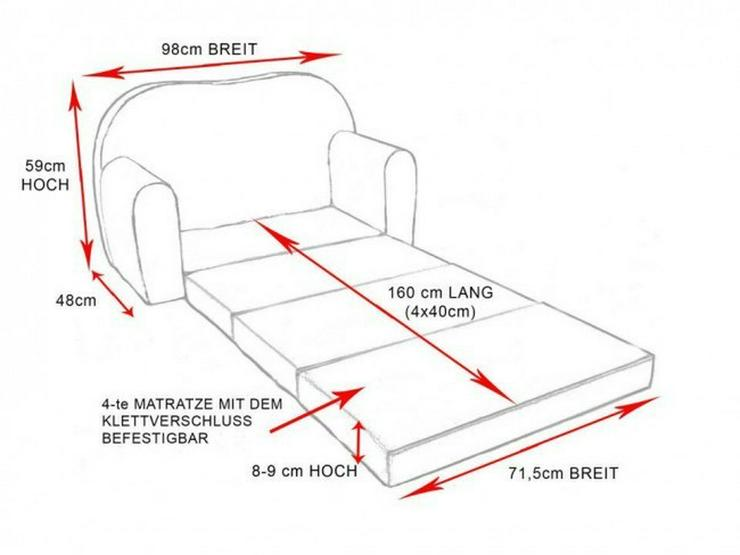 Bild 5: Kinder Sofabett mit Puff NEU Kindersofa