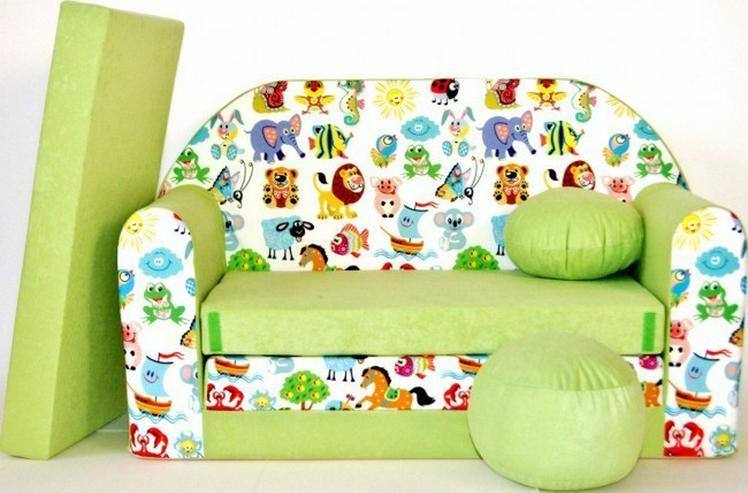 Bild 4: Kinder Sofabett mit Puff NEU Kindersofa