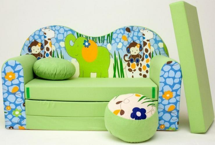 Bild 2: Kinder Sofabett mit Puff NEU Kindersofa