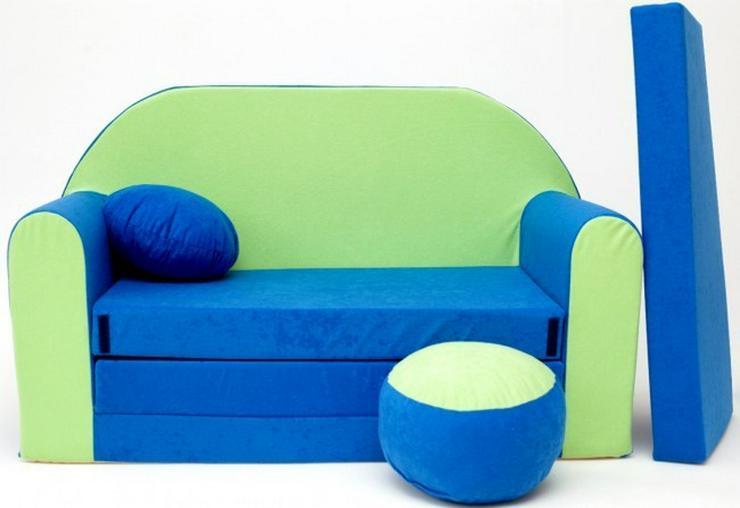 Kinder Sofabett mit Puff NEU Kindersofa - Sofas - Bild 1