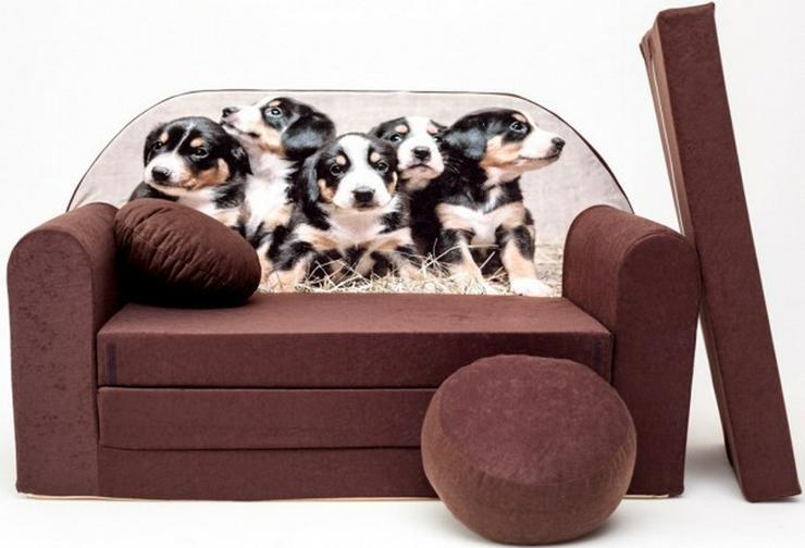 Kinder Sofabett mit PUFF und Kissen NEU