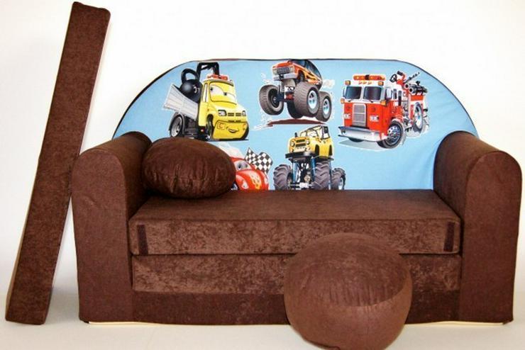Bild 3: Kinder Sofabett mit PUFF und Kissen NEU