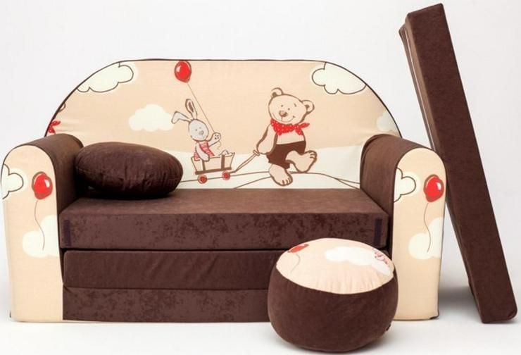 Bild 4: Kinder Sofabett mit PUFF und Kissen NEU