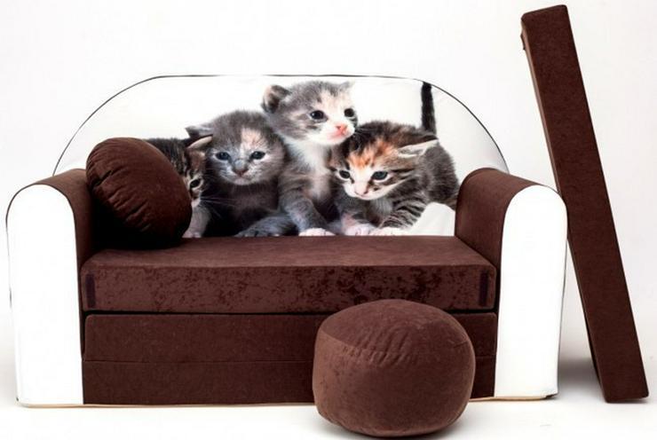 Bild 5: Kinder Sofabett mit PUFF und Kissen NEU