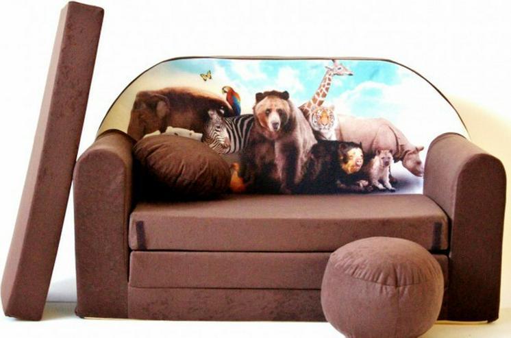 Bild 6: Kinder Sofabett mit PUFF und Kissen NEU