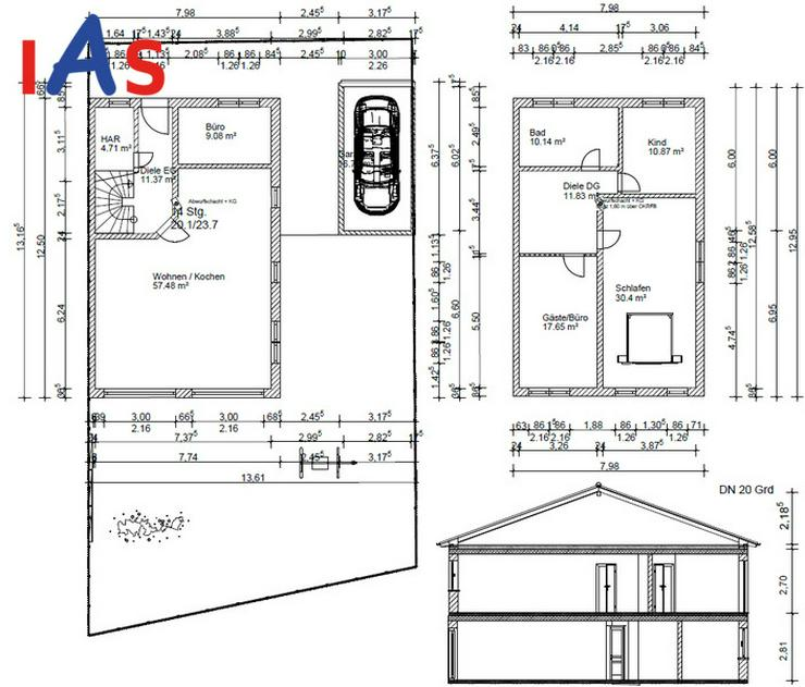 Bild 2: Neubau einer top-modernen Doppelhaushälfte in Tegernheim.