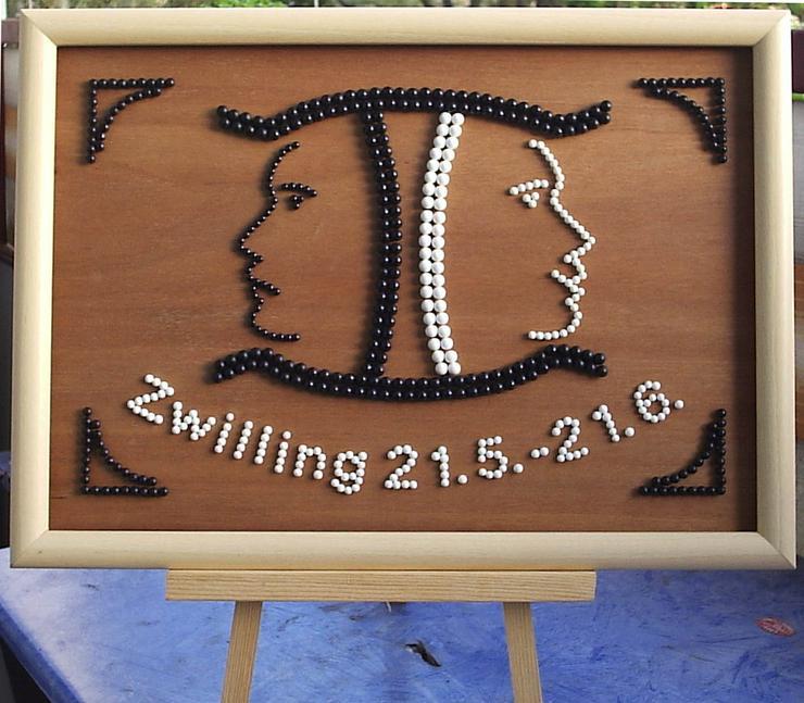 Sternzeichen Zwilling ! - Bilderrahmen - Bild 1