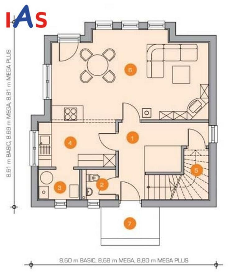 Bild 3: Ihr Hausneubau im Zentrum - hier finden Sie alles um die Ecke!