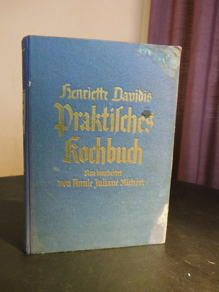 Bild 1: Antikes Kochbuch Henriette Davidis 1932, Prakt