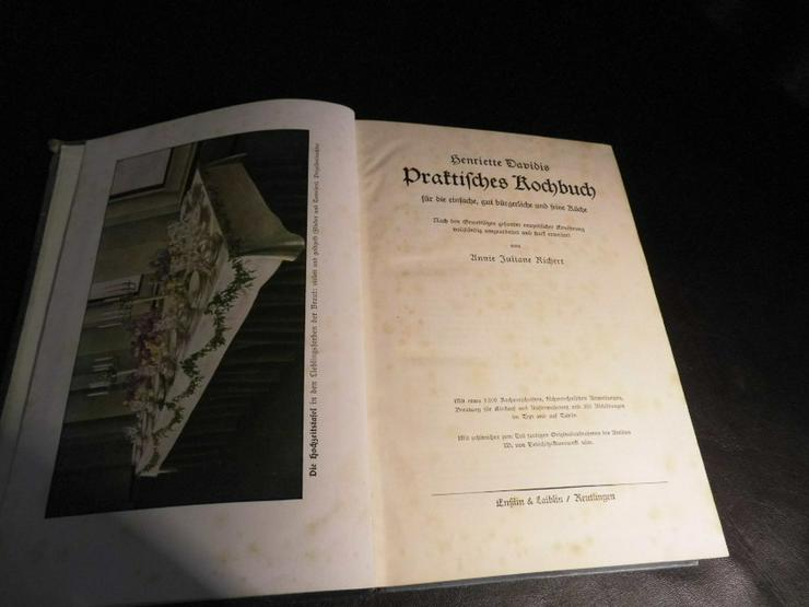 Bild 4: Antikes Kochbuch Henriette Davidis 1932, Prakt