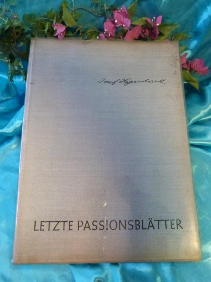 Antik Buch/Mappe LETZTE PASSIONSBLÄTTER / 6 Ze