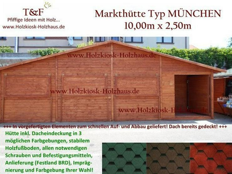 Bild 5: MARKTHÜTTE MARKTBUDE VERKAUFSHÜTTE 10mx2,5m NEU