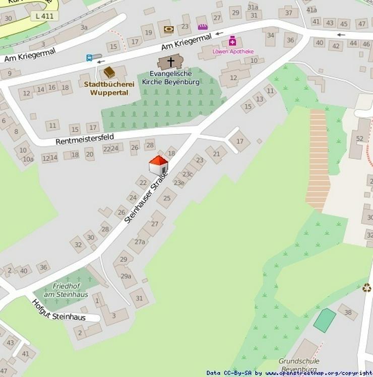 EkoPa Immobilien - Baugenehmigtes Baugrundstück für eine Doppelhaushälfte in der Wupper... - Grundstück kaufen - Bild 1