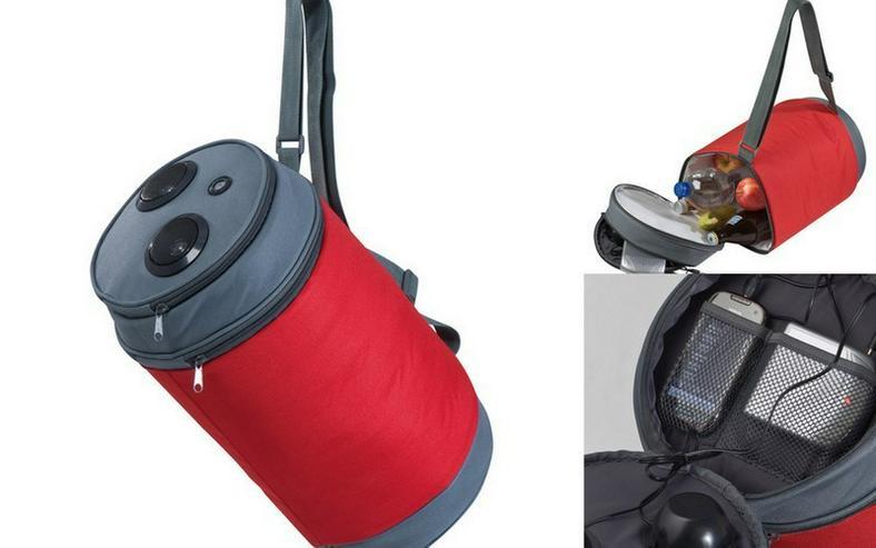 Kühltasche mit Lautsprecher - Red