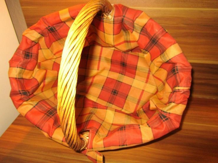 Bild 2: Weidenkorb Einkaufskorb Bügelkorb Karoline