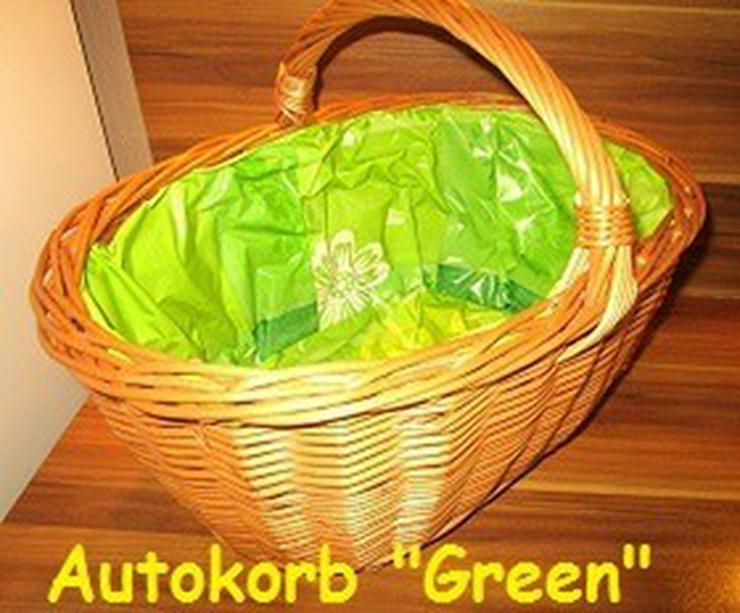 Weidenkorb Einkaufskorb Bügelkorb Green