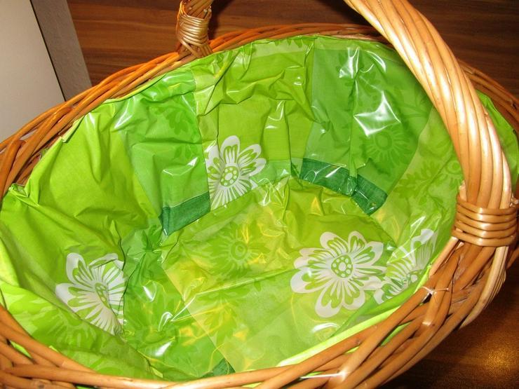 Bild 4: Weidenkorb Einkaufskorb Bügelkorb Green