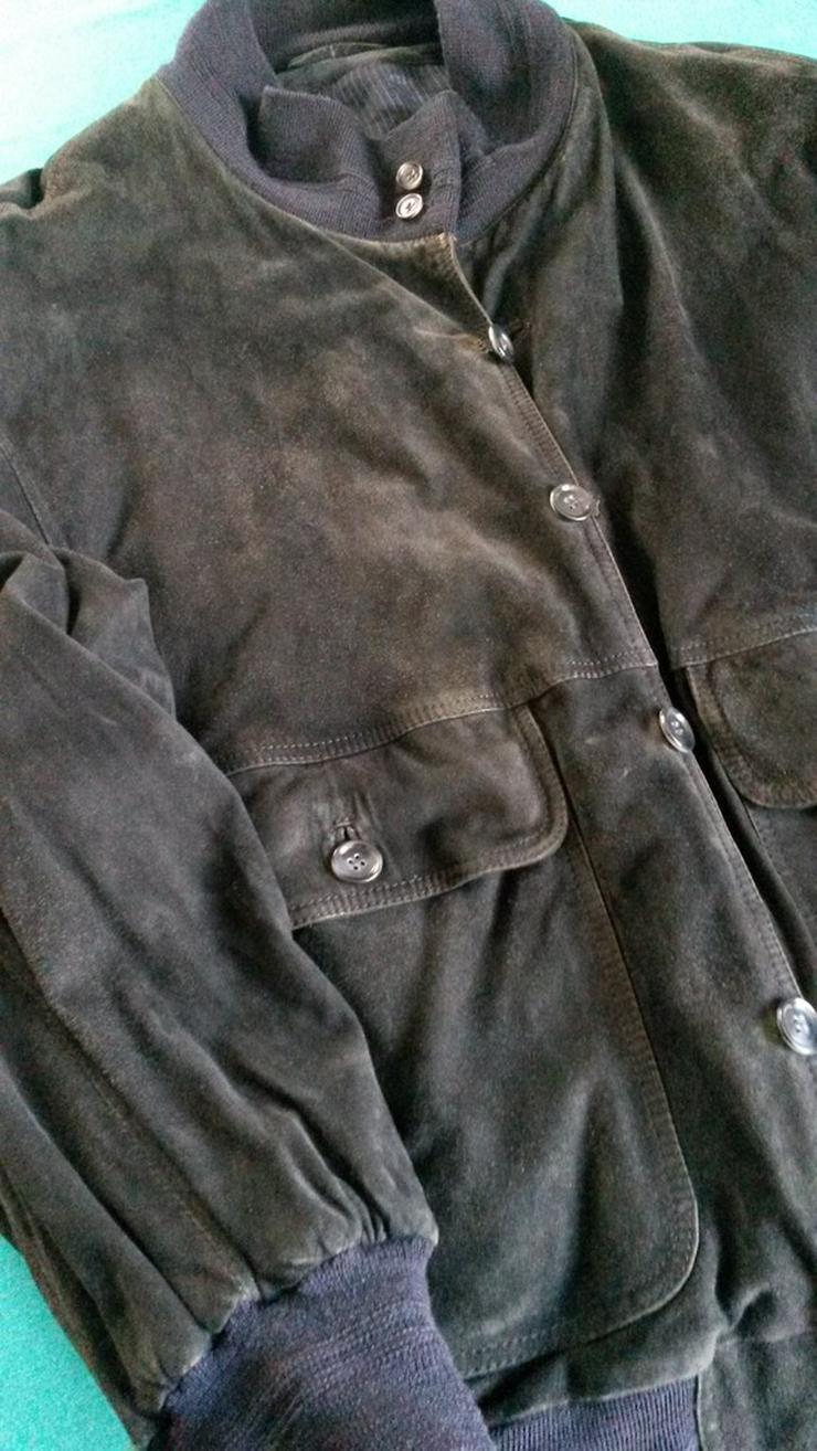 Wildlederjacke, dunkelblau Gr. 50