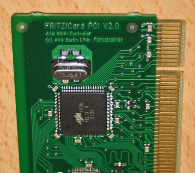 Bild 3: AVM ISDN Karte, Fritz Card PCI V2.0 Controller