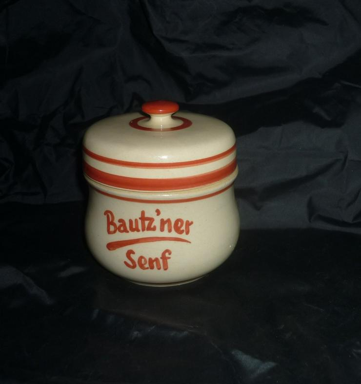 Bild 3: Bautzner Senftopf rot  incl. Bautzner Becher