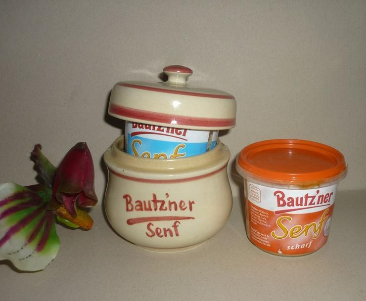 Bautzner Senftopf rot  incl. Bautzner Becher - Sonstiges - Bild 1