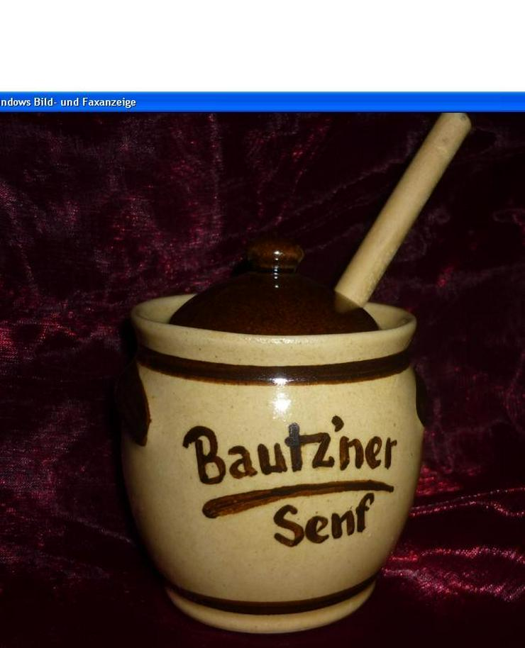 Bild 2: Bautzner Senftöpfchen mit Naturholzlöffel