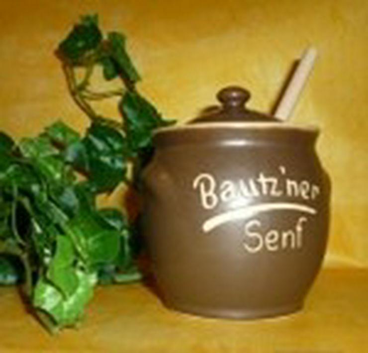 Bautzner Senftöpfchen mit Naturholzlöffel - Sonstige Spezialitäten - Bild 1