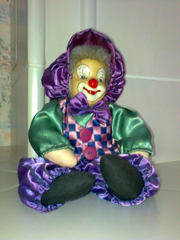 Porzellanpuppe Clown - handgearbeitet - neu
