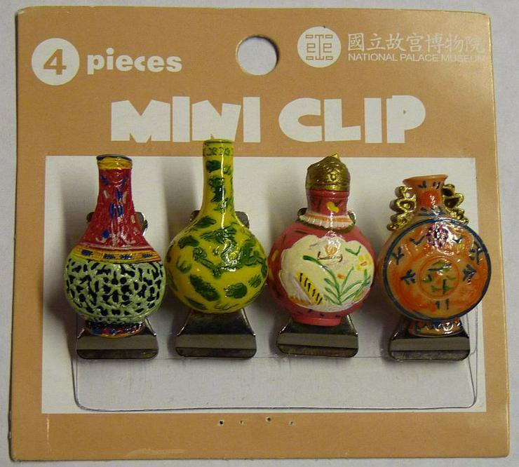 8 Mini Clips aus Metall