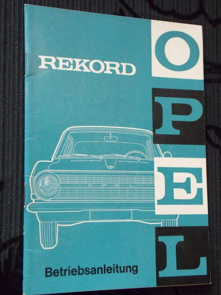 Opel Rekord Betriebsanleitung von 1963
