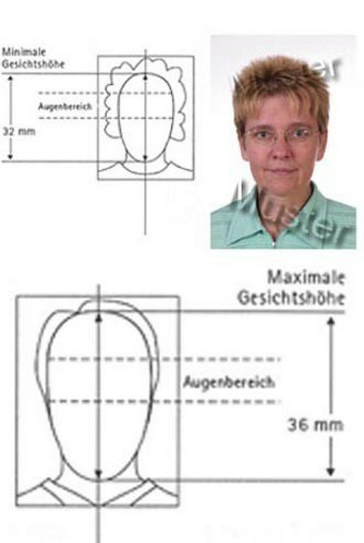 Bild 2: Biometric passport photographs
