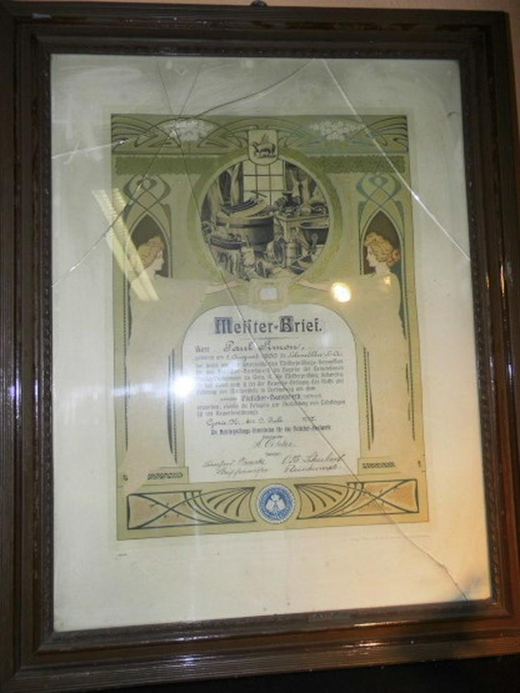 Antiker Fleischer-Meisterbrief 1917 Gemeinsame