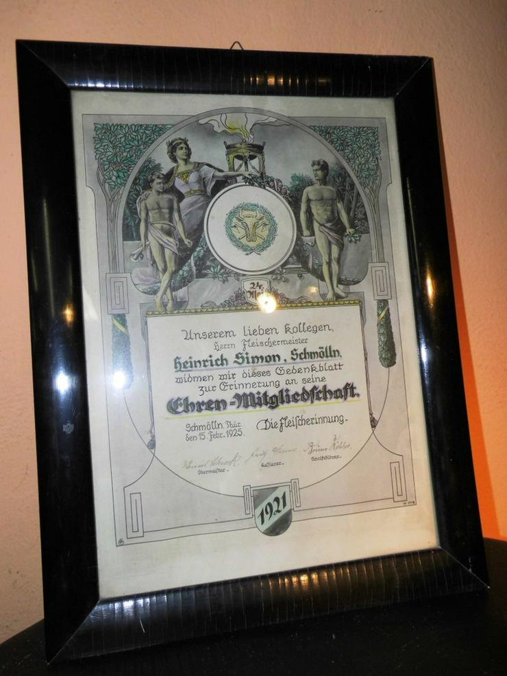 Antikes Dokument Ehren-Mitgliedschaft 1925 Fle